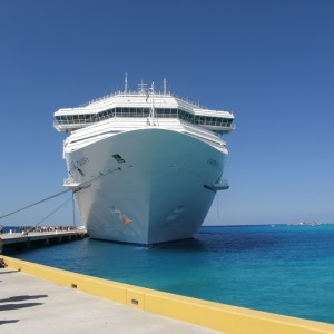 The Carnival Gglory docked in Grand Turk Island.