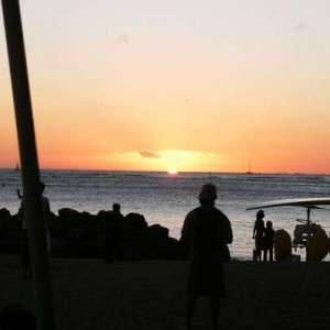 Sunset from the Halekulani, Waikiki Hawaii