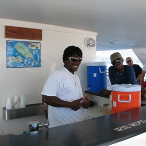 Our photo. cat to Nevis. bar is open