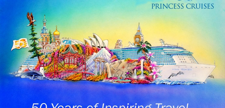 Artist's rendering of the Princess Cruises float for the 2015 Rose Parade.