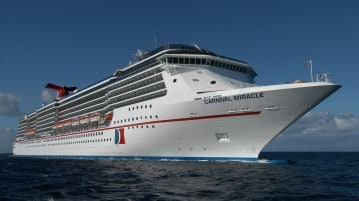 Carnival Miracle at Sea