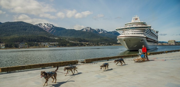 Ruby Princess Sled Dog Welcome