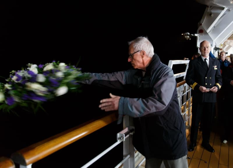 Alan Gibson, who lost his great uncle, one of Queen Victoria's numerous passengers who had relatives who sailed on Lusitania's fateful last voyage. Photo: Cunard (PRNewsFoto/Cunard)