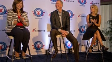 Carnival Cruise Line, Operation Homefront and Carrie Underwood announce partnership. (PRNewsFoto/Carnival Cruise Line)