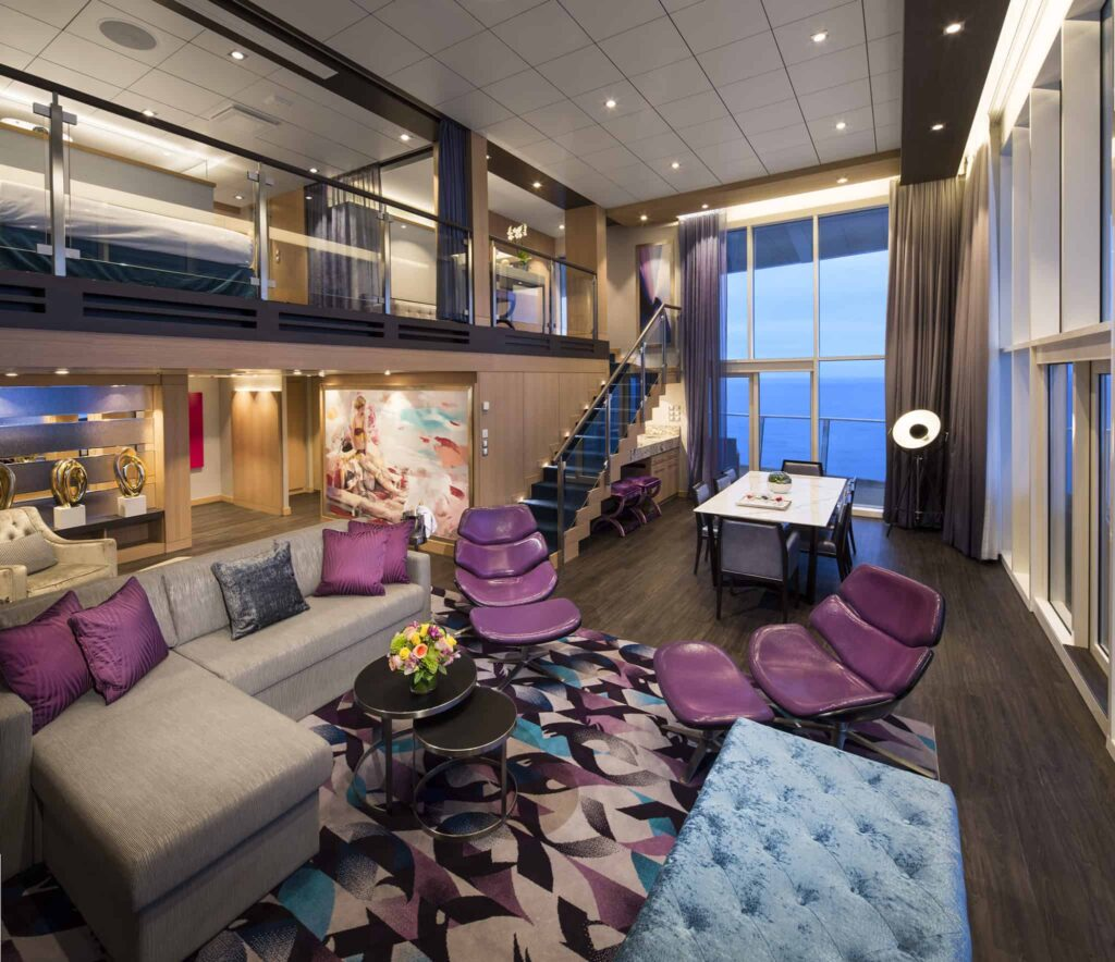 Royal Loft Suite Cat.RL - Room #1744 Deck 17 Midship Starboard Harmony of the Seas - Royal Caribbean International