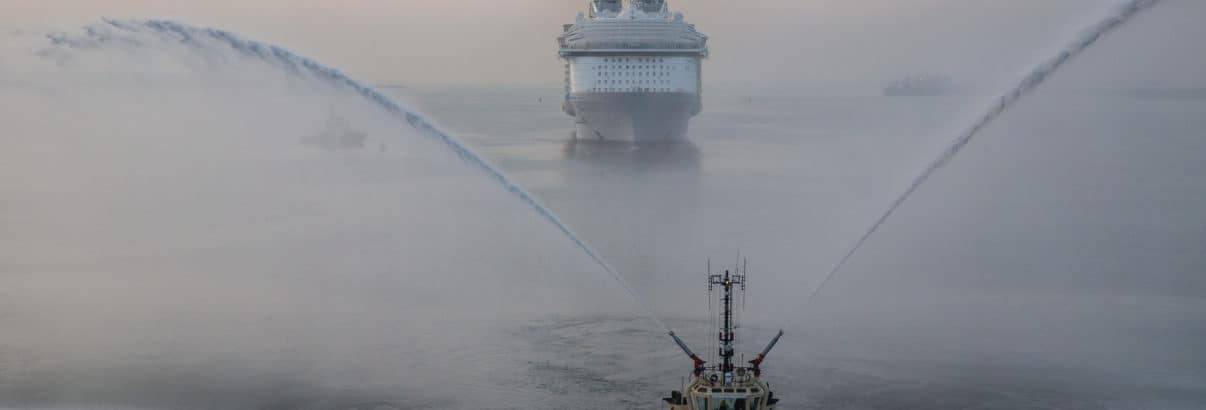The World's Largest Cruise Ship Makes Her World Debut