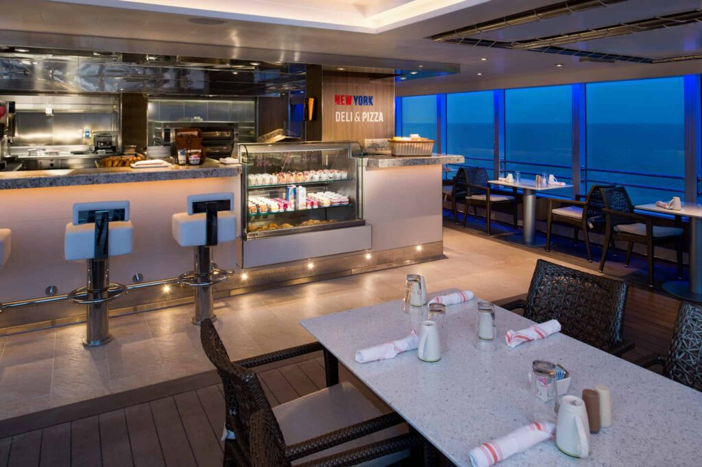 New York Deli & Pizza - Deck 10 Midship Portside Koningsdam - Holland America Line