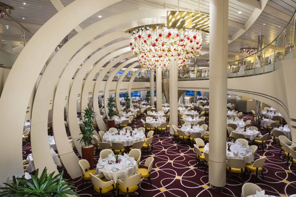 The Dining Room - Deck 2 & 3 Aft Koningsdam - Holland America Line