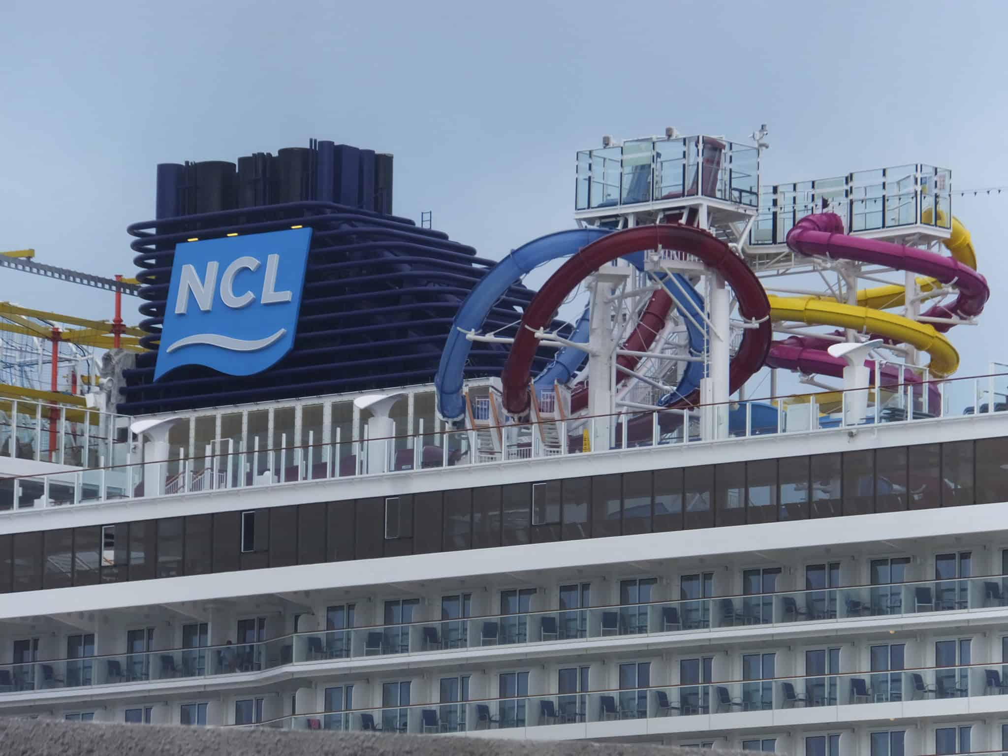 Norwegian Cruise Line Kicks Off The Holidays With A Weeklong Black - Roller coaster on a cruise ship