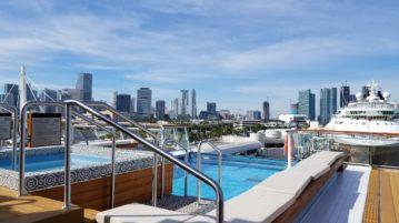 Aft View of Miami Skyline