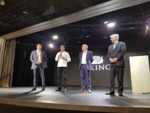Viking Executives Celebrate and Speak With Guests