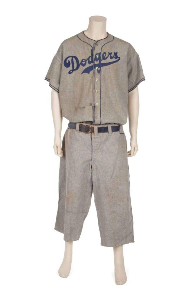 Baseball Legend Babe Ruth's Brooklyn Dodgers Uniform, worn by Ruth during the 1938 season.