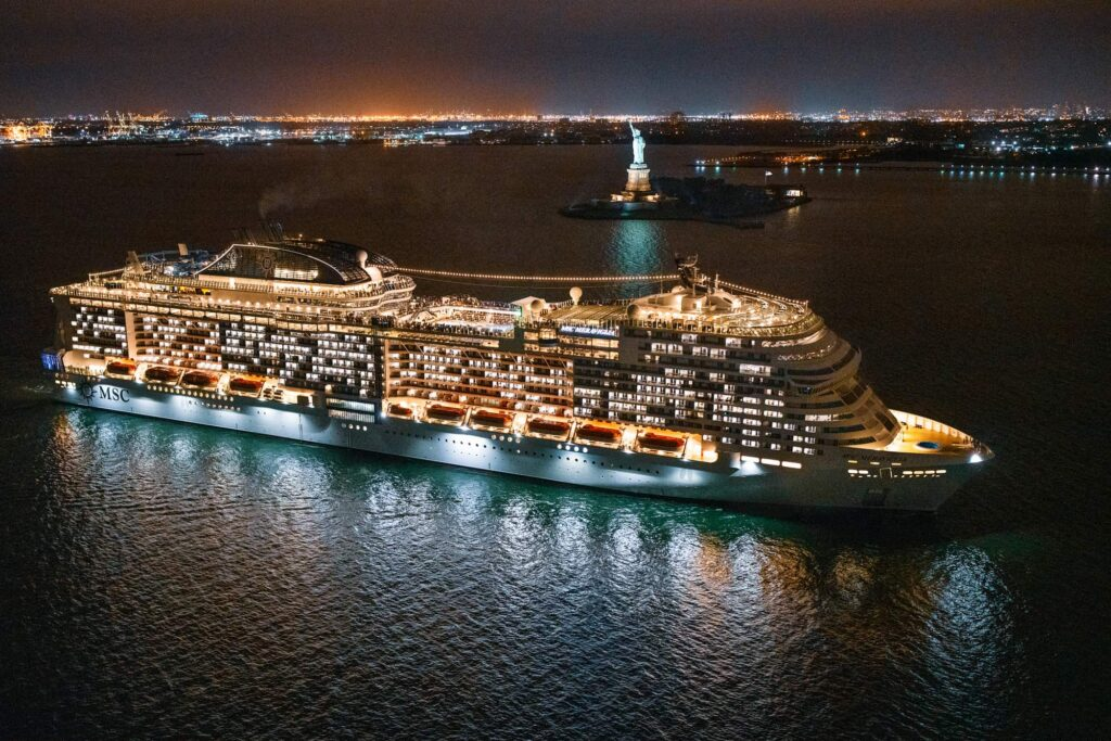 MSC Meraviglia arrives in NY Oct 7. 2019