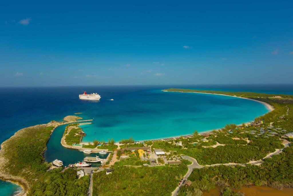 Half Moon Cay Bahamas Aerial View