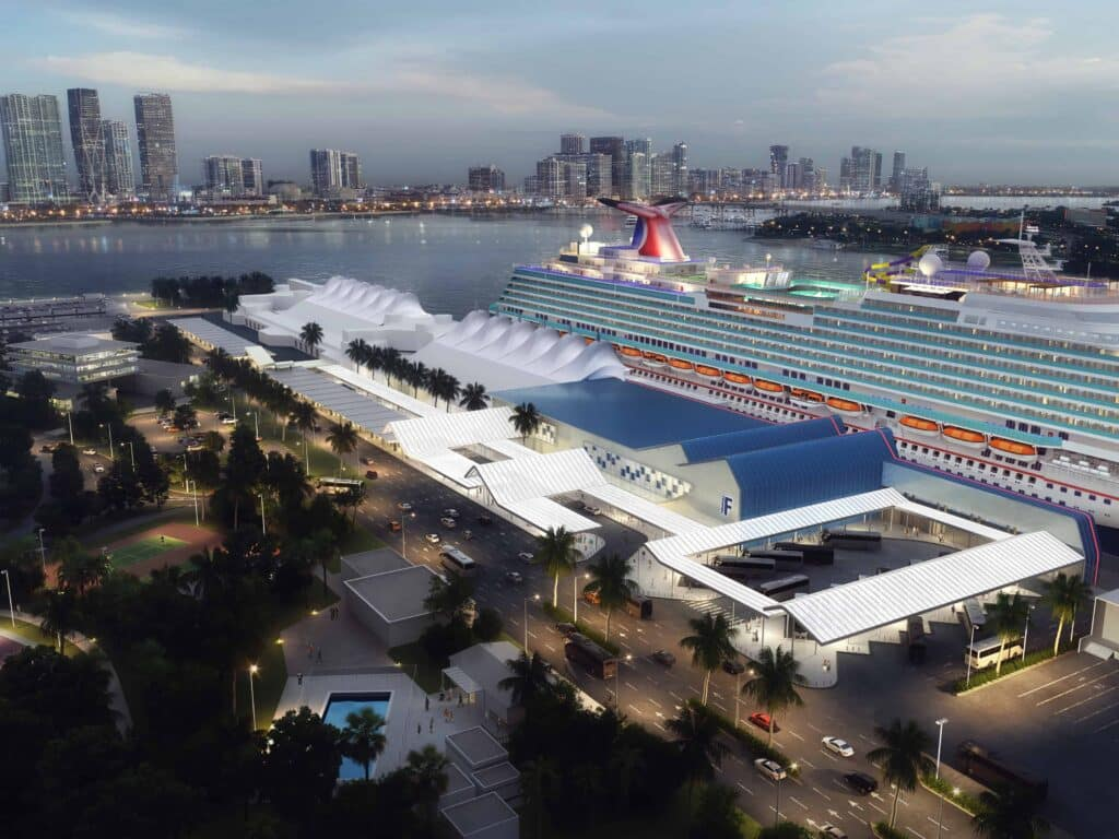 Carnival Cruise Line's new Terminal F