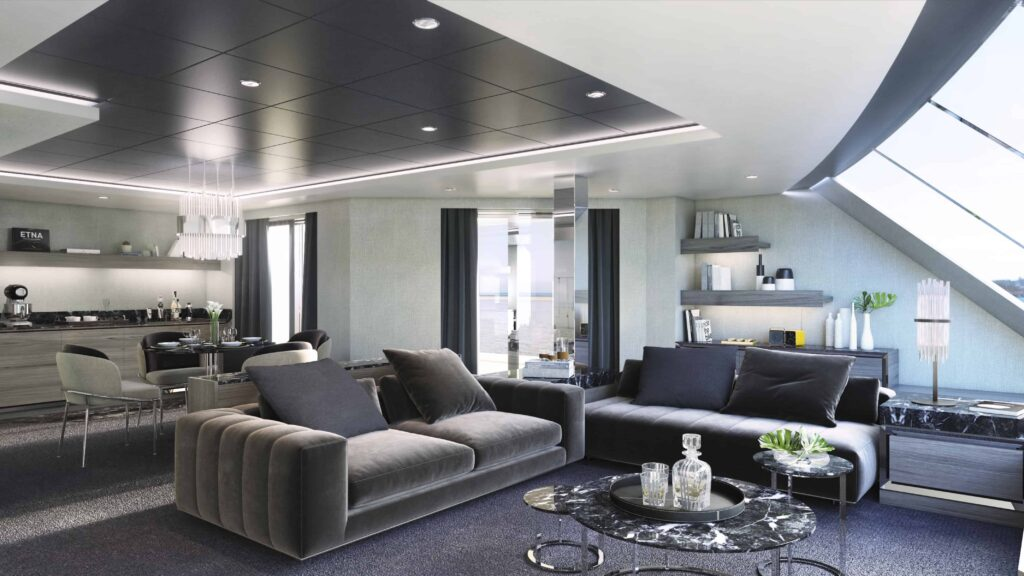 MSC Yacht Club Owner's Suite Living Area